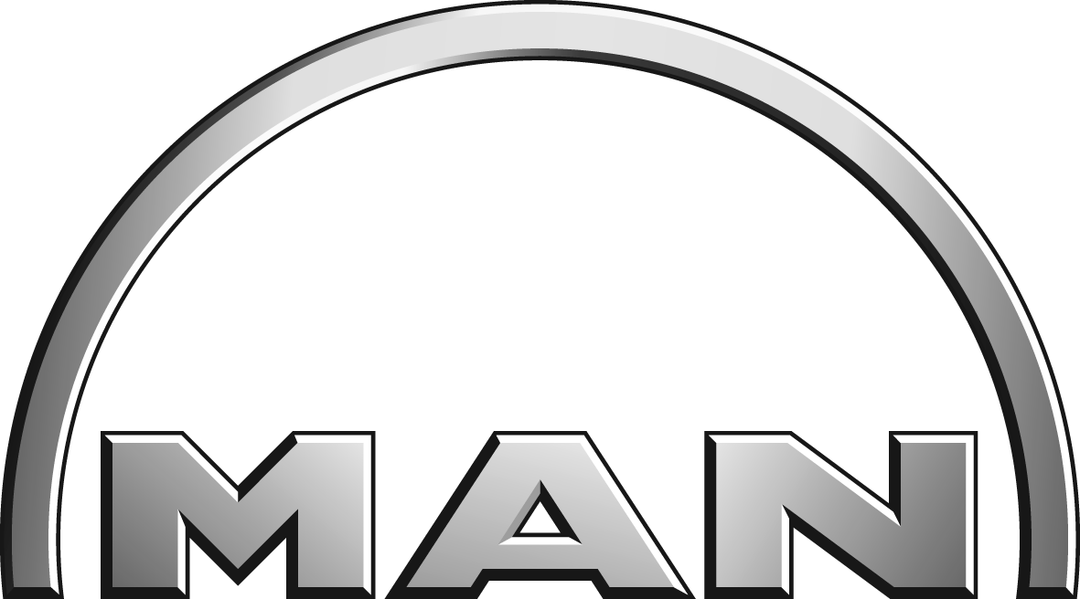 MAN ist ein deutscher Hersteller von schweren Fahrzeugen, vor allem Lkws und Bussen, Dieselmotoren und Turbinen für verschiedene Anwendungen.