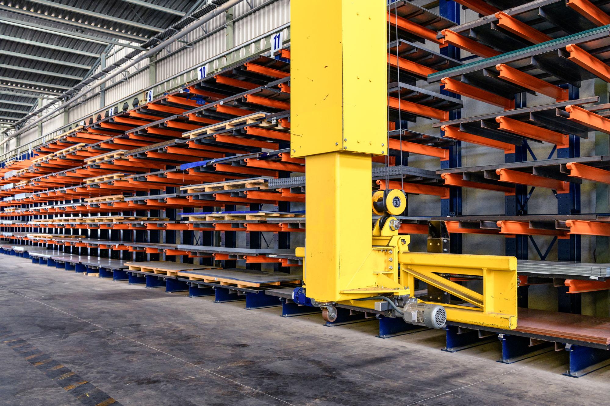 automated sheet metal warehouse sidemur