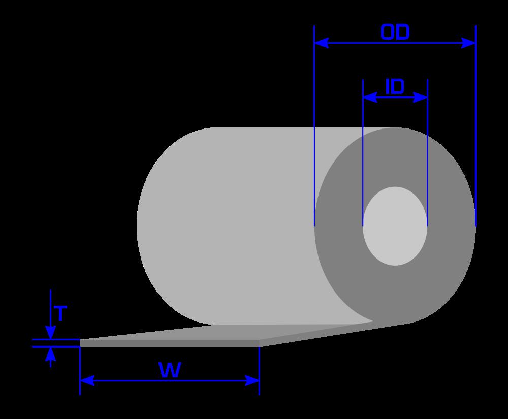 calcular longitud peso bobina acero