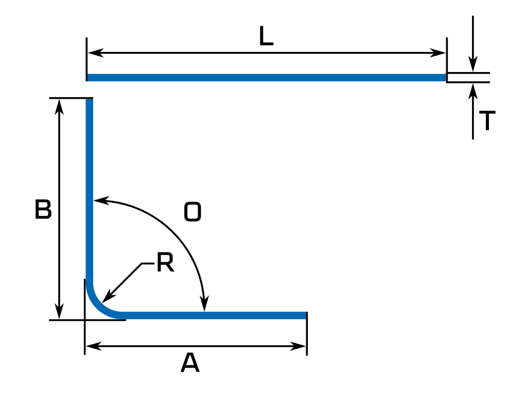 calculate bend deduction sheet metal flat length