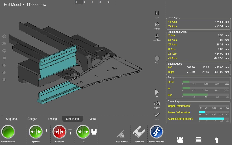 CNC 3D für das Biegen des Blechs