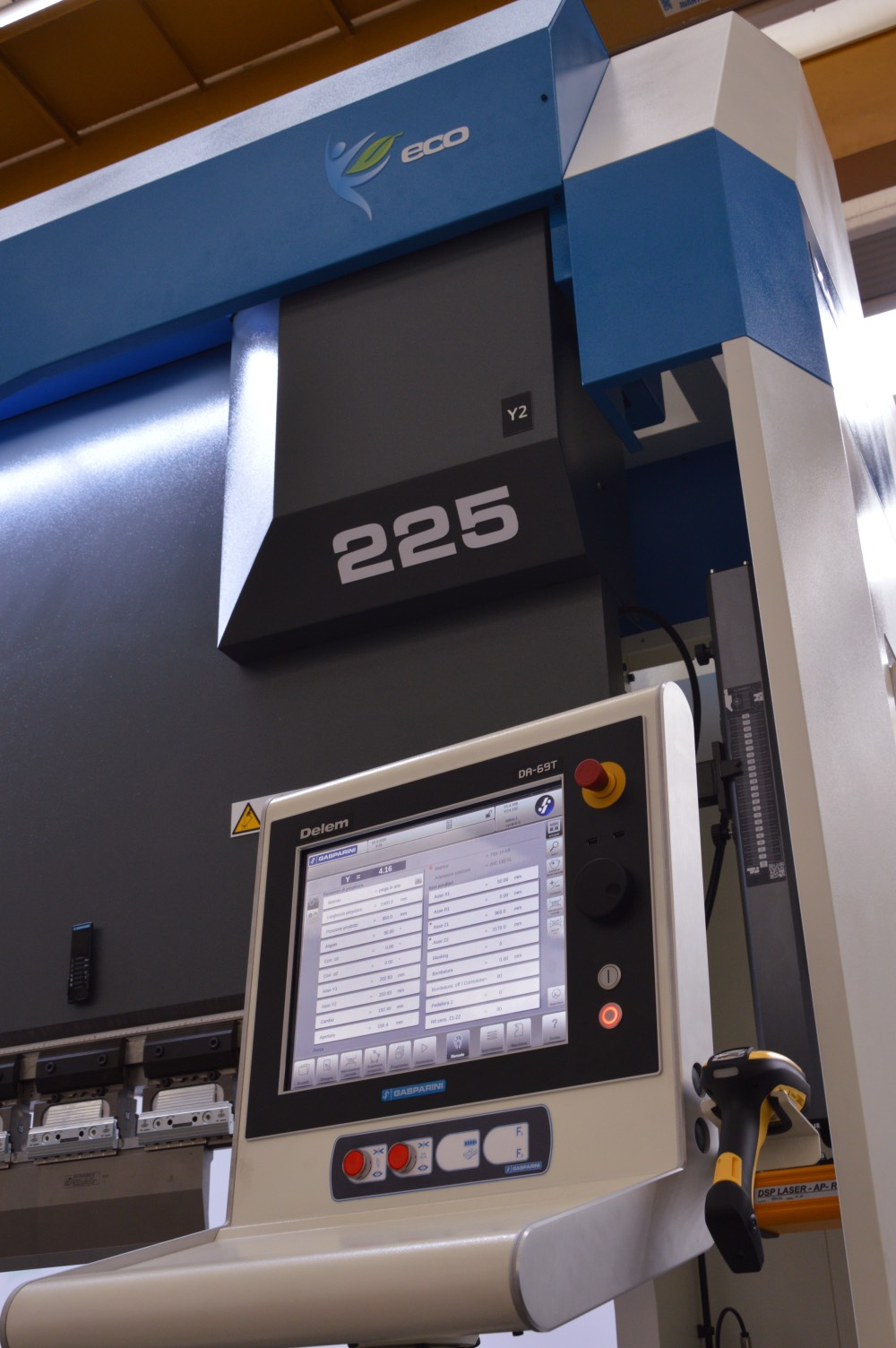 delem press brake cnc barcode reader