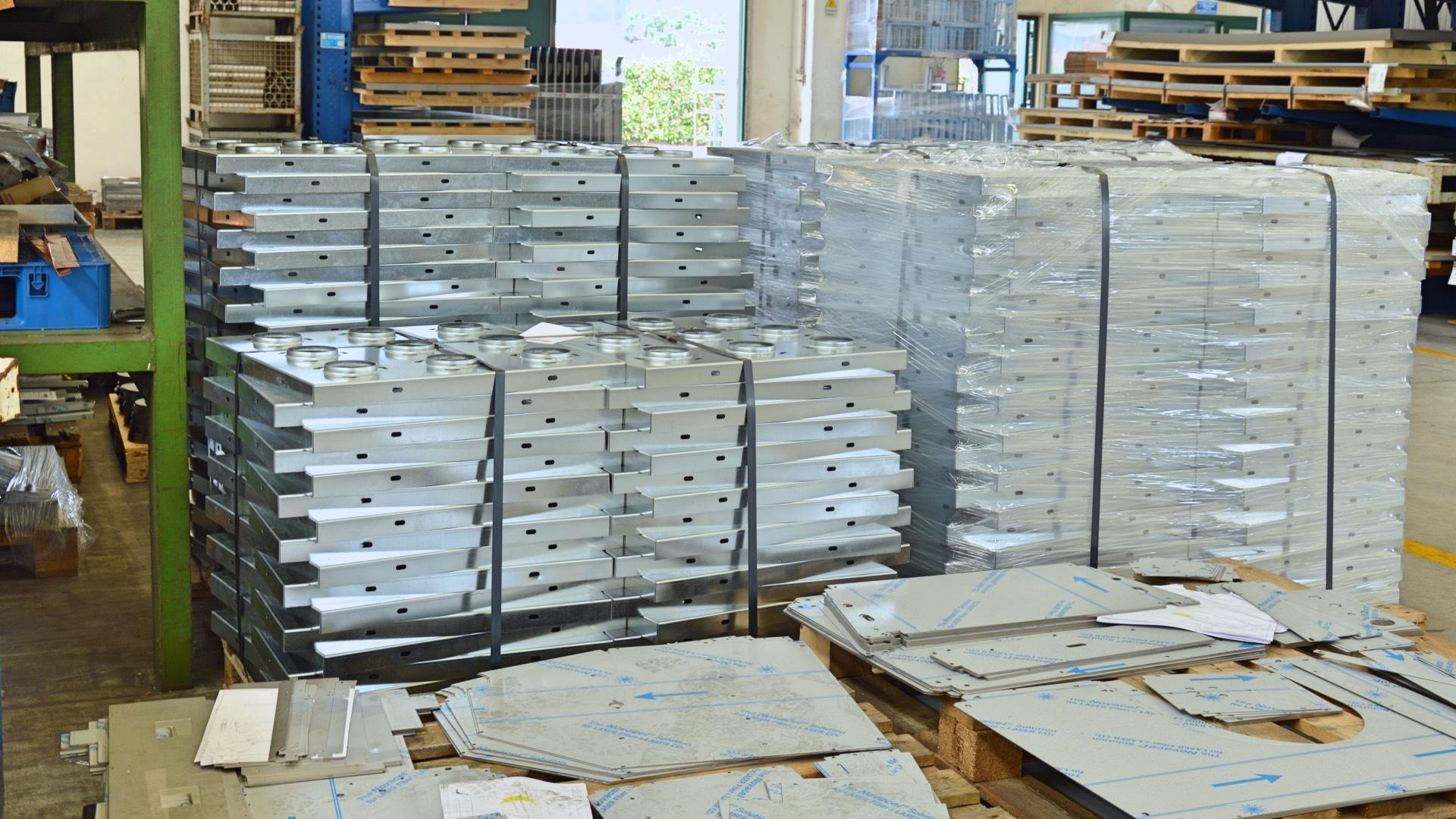 handling laser cut blanks production batch