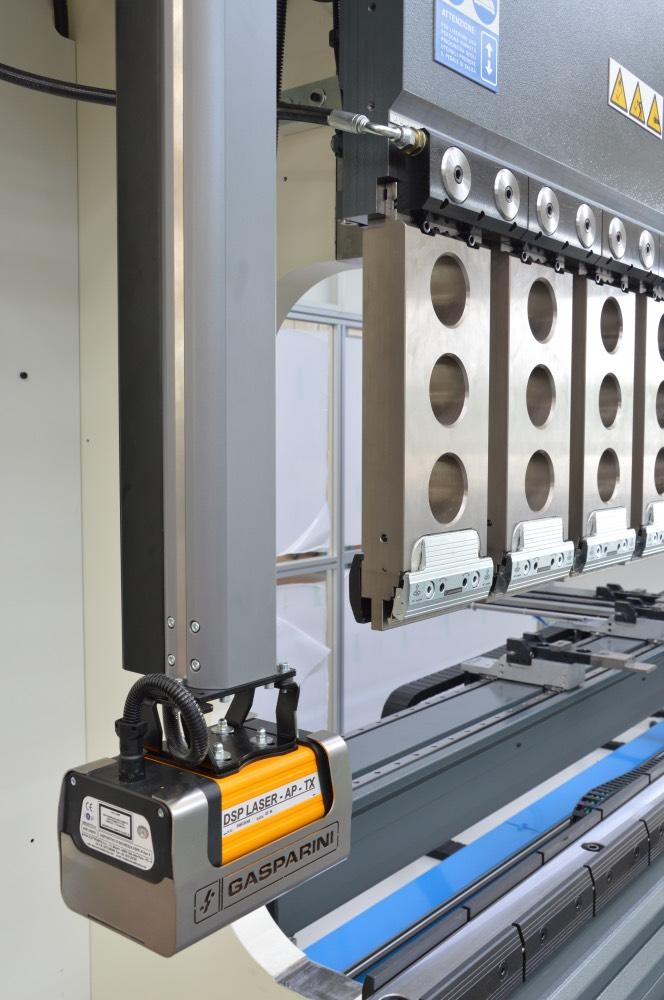 motorized safety system laser angle control