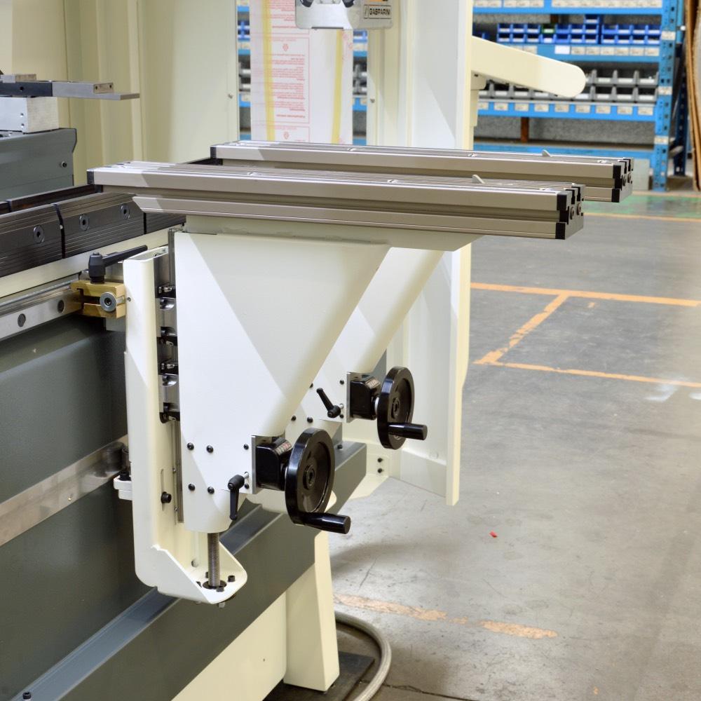prensa plegadora soportes frontales corredizos ajustables