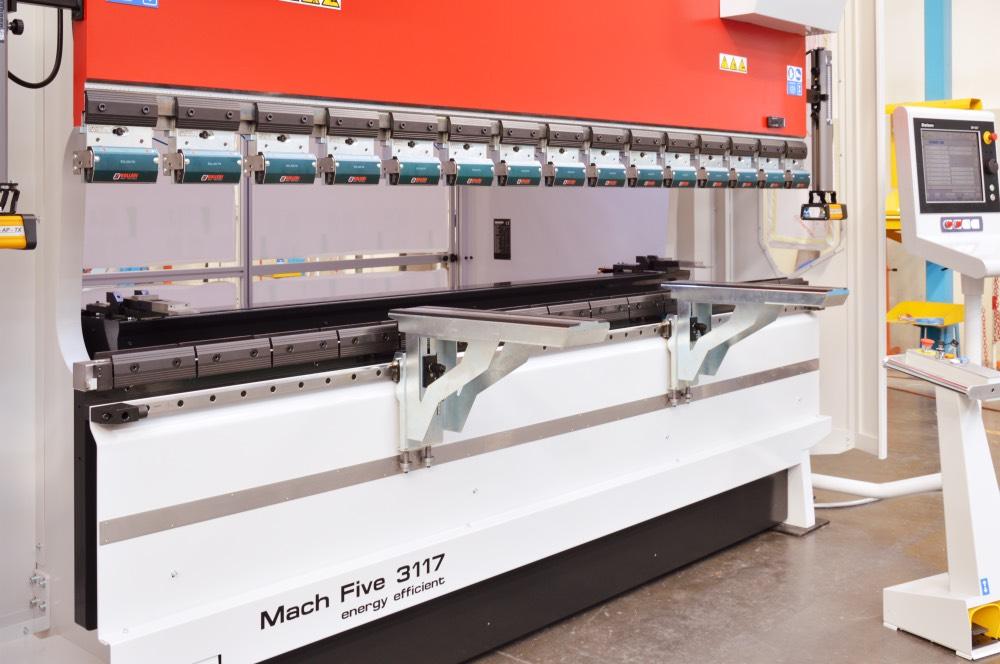 prensa plegadora tope trasero cuatro ejes