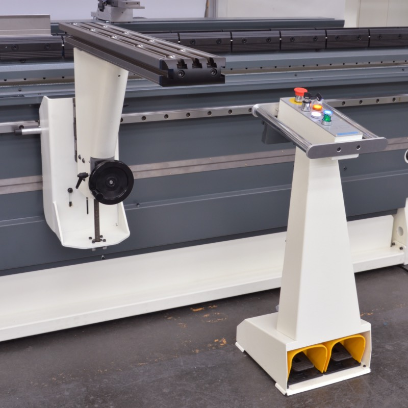 press brake wireless pedal front supports