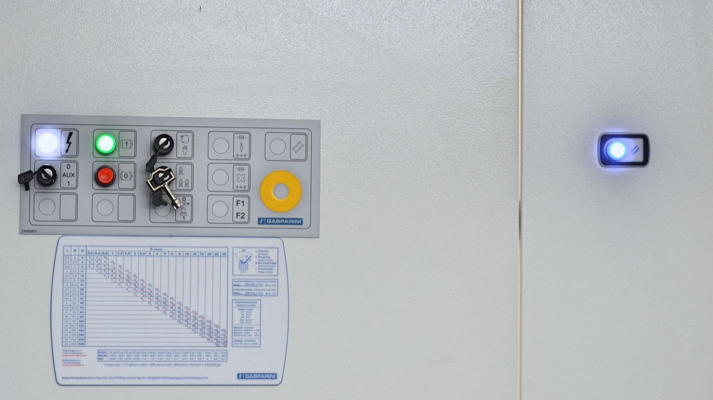 pulsanti emergenza pompa piegatrice