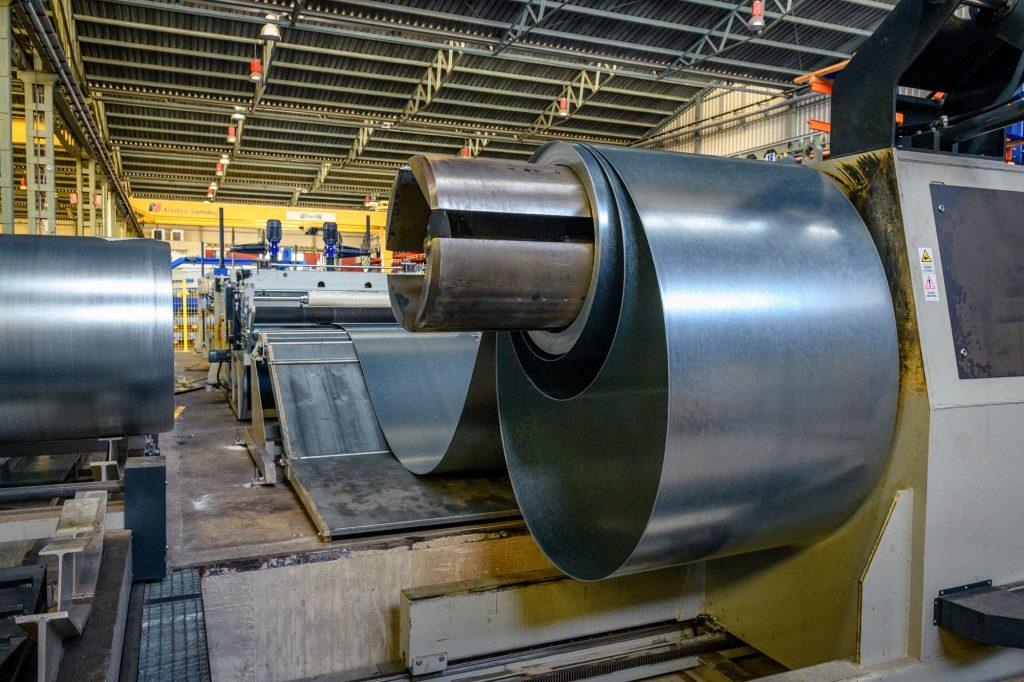 sheet metal coil cutting line sidemur