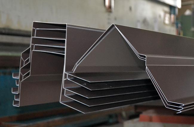 sheet metal gutters production
