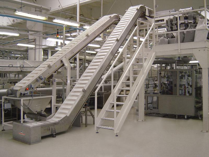 sheet metal hopper conveyor belt