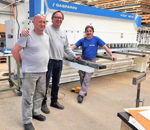 sheet metal shear installation
