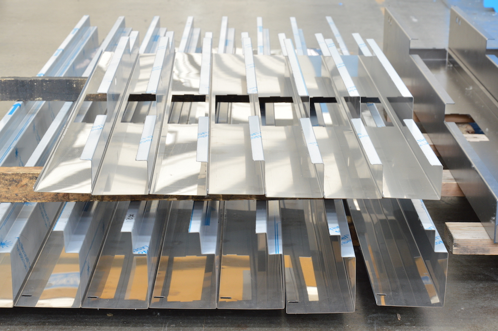 stainless metal sheet angle control