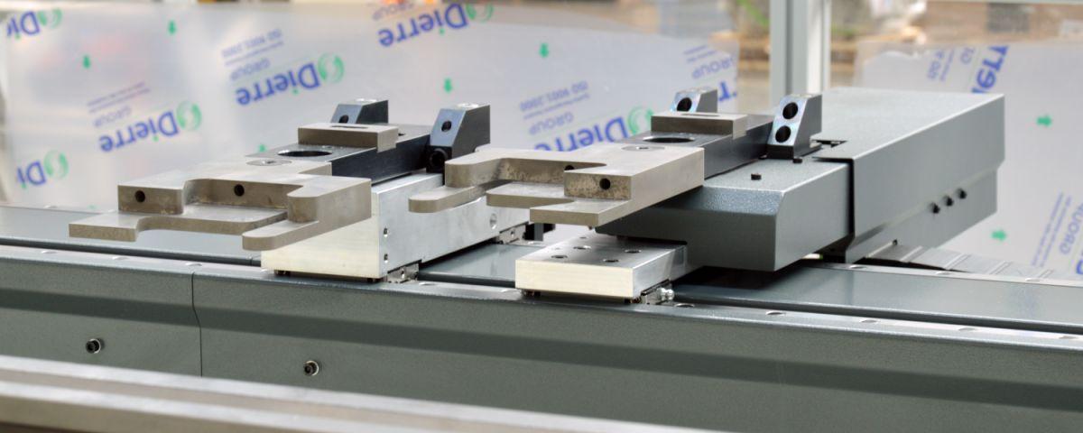 tope trasero 5 ejes prensa plegadora eje relativo