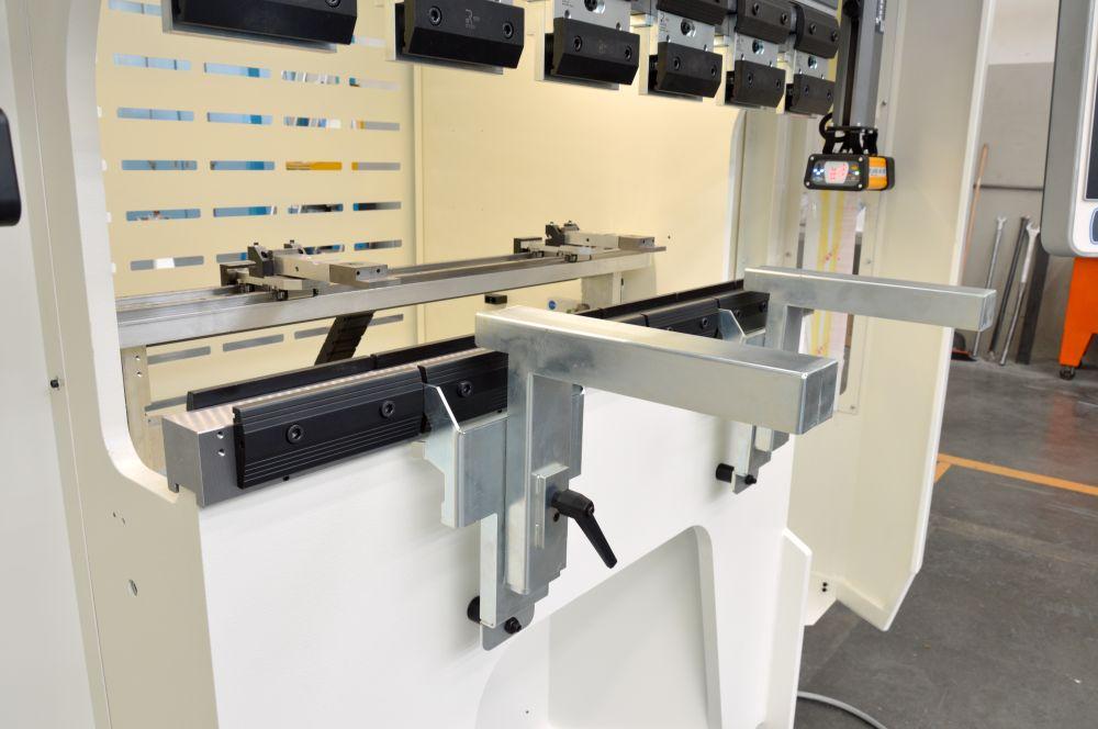 work area backgauge press brake